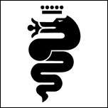 Vous connaissez ce logo sans l'avoir vraiment observé ! ... C'est incroyable ! On y voit la croix des Templiers et un serpent/dragon avalant un ''infidèle'' . Quelle est cette marque ?