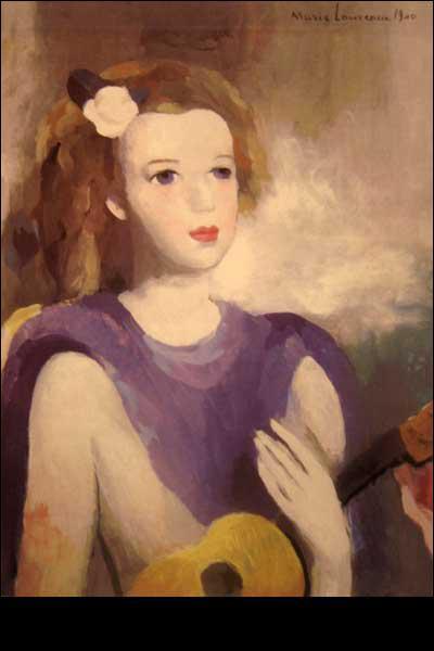 Qui a peint Jeune femme à la guitare ?