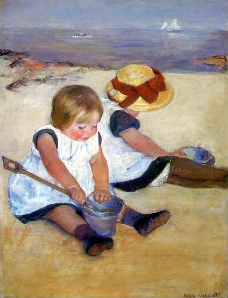 Qui a peint Enfants sur la plage ?