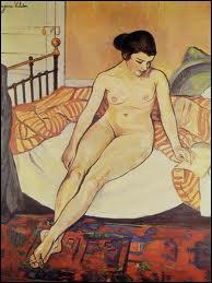 Qui a peint Nu à la couverture rayée ?