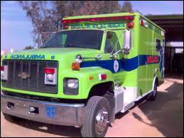 Ce véhicule vert et bleu est ... .