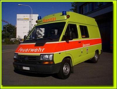 Ambulance utilisée chez nos voisins ... .