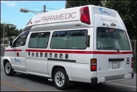 Une ambulance en service... .