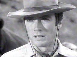 Clint Eastwood a démarré sa carrière dans une série télévisée ''western'' :
