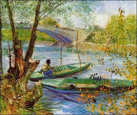 Pêche au printemps près du pont de Clichy :