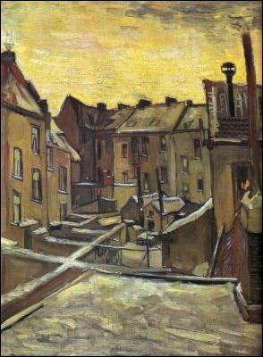 Vieilles maisons sous la neige à Anvers ?