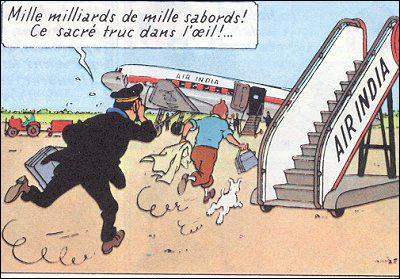 Tintin au Tibet : Où Tintin et ses compagnons font-ils escale avant de prendre leur avion pour Kathmandou ?