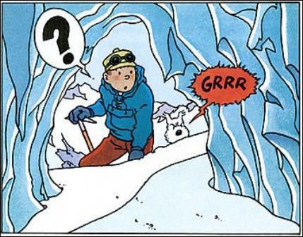 Tintin au Tibet : De quelle couleur est l'écharpe de Tchang trouvée aperçue par Tintin ?