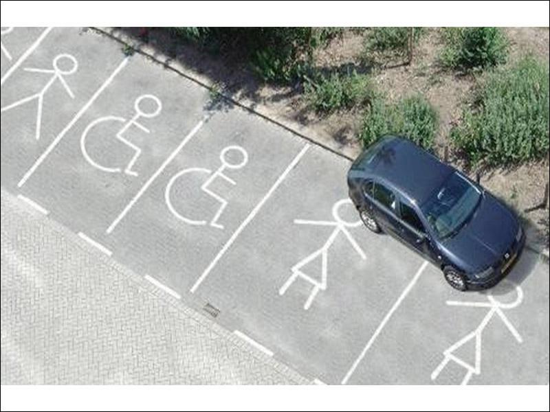 ____ choisirez votre emplacement de parking.