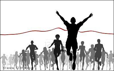 ____ suis le vainqueur de la course !