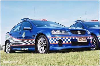 Une Pontiac G8 équipant la police en...
