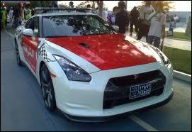 Une Nissan GT R d'un pays du Golfe Persique...