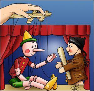 _______________, j'ai vu un spectacle de marionnettes.