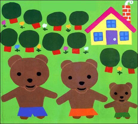 _______________, les trois ours ont quitté leur maison.