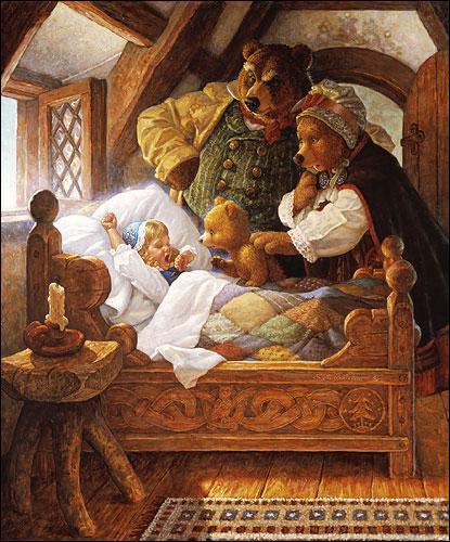 _______________, les ours la découvriront dans un lit .