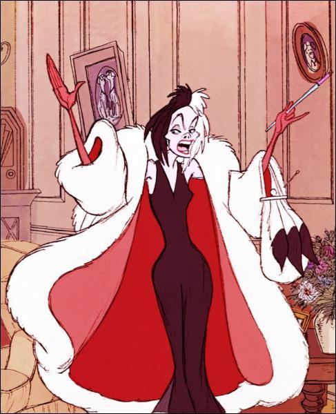 Elle rêve d'un manteau blanc à points noirs...
