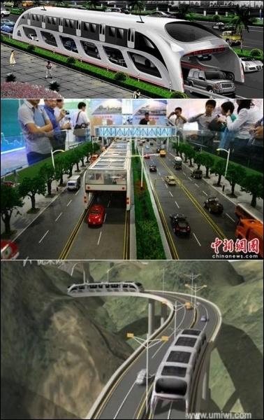 Quelle ville chinoise va mettre en circulation des  bus volants  pour éviter les bouchons et réduire l'effet de serre ?