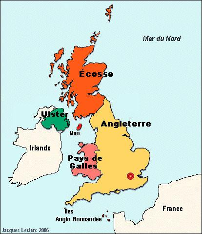 Quelles régions sont comprises dans la Grande-Bretagne (1707) ?