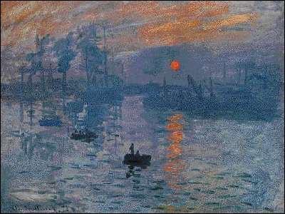 Qui a peint 'Impression Soleil levant' ?