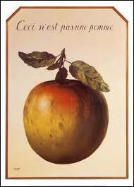 De qui est cette oeuvre intitulée 'ceci n'est pas une pomme' ?