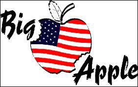 Quelle ville est baptisée la grosse pomme (Big Apple) ?