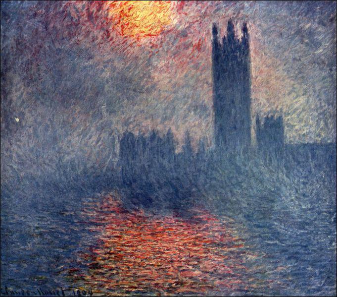 Ce tableau s'appelle 'Le ... ... ... . de Londres au soleil couchant'.