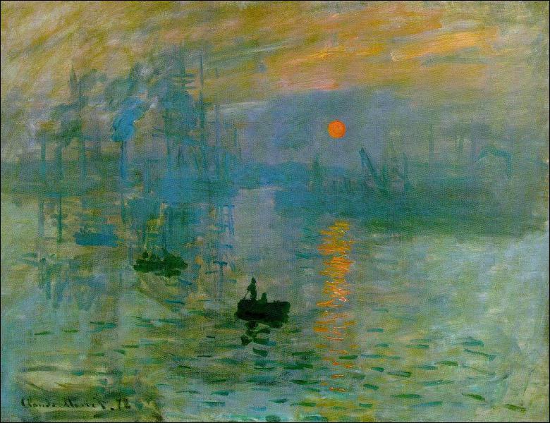 Ce tableau -qui a donné son nom à l'impressionnisme- s'appelle 'Impression, soleil... ... '.