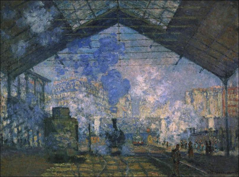 Ce tableau s'appelle 'La gare... ... ... . . '.