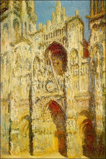 Ce tableau est l'une des représentations de la cathédrale de Rouen : quel est son sous-titre ?