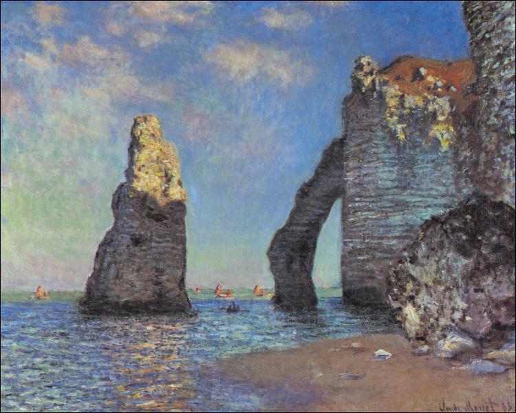 Ce tableau s'appelle 'Les falaises... ... ... . '