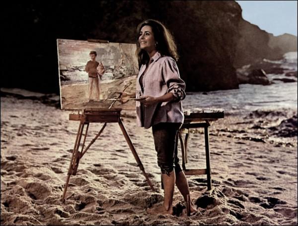 Quel rôle joue son mari Burton dans ce film : 'Le chevalier des sables' ?