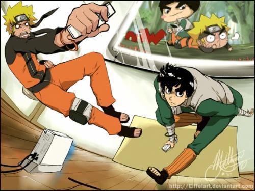 À quoi jouent Naruto et Lee ?