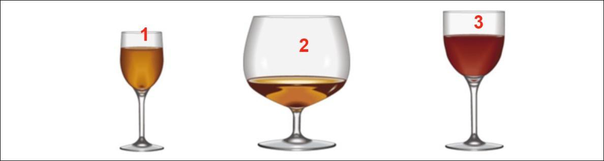 'Un Cognac SVP' ... ... . verser dans le verre n°... .