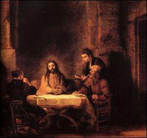 Qui a peint 'Les Pélerins d'Emmaus' ?
