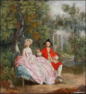 Qui a peint 'Conversation dans un parc' ?