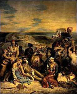 Qui a peint 'Le Massacre de Scio' ?