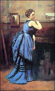 Qui a peint 'La Femme en bleu' ?
