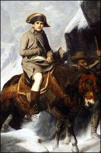 Qui a peint 'Bonaparte franchissant les Alpes' ?