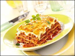 Quel ingrédient ne doit-on pas utiliser lors de la préparation des lasagnes ?