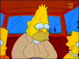 Pourquoi Abraham Simpson perd-t-il son dentier ?