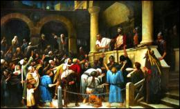 Une coutume juive voulait que l'on libère un prisonnier lors de la fête de la Pâque. Le gouverneur a demandé au peuple hébreu de choisir entre Jésus et un prisonnier pour désigner celui qui échappera à l'exécution. Comment s'appelait celui choisi par le peuple ?