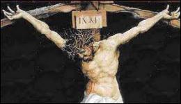 """Que signifie l'inscription """"INRI"""" visible sur la croix ?"""