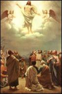 Dans la tradition chrétienne, quel évènement marque l'élévation au ciel de Jésus-Christ après sa résurrection et la fin de sa présence sur Terre ?