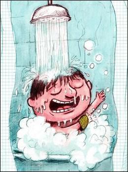 Je dois prendre une douche :