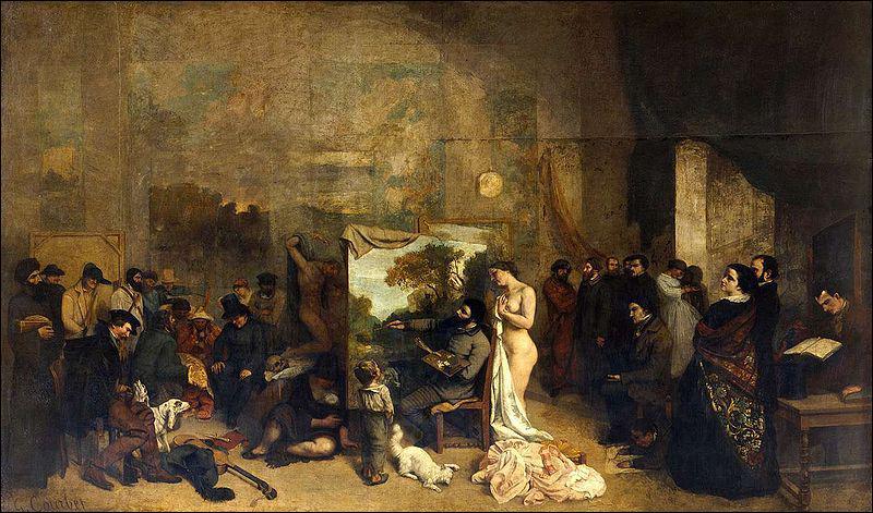 Qui a peint 'L'atelier du peintre' en 1855 ?