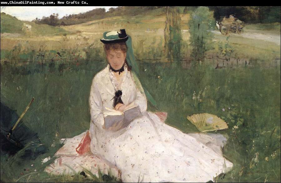 Tableau possèdant 2 titres 'L'ombrelle verte' ou 'Madame Pontillon assise dans l'herbe', ce tableau a été peint en 1873 par :