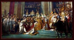 Quel artiste a peint  Le Sacre de Napoléon  exposé au musée du Louvre ?