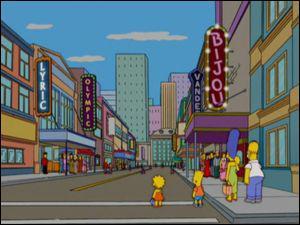 Quelle est la ville voisine de Springfield et à la fois leur ennemie ?