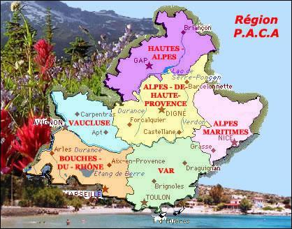 Tout d'abord , quel département ne fait pas partie de la région PACA ? (voir la carte)
