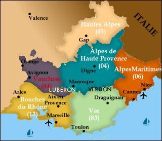 La ville de Digne se situe dans quel département ? (voir la carte)